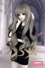 BJD Doll Hair Wig 9-10 inch 22-24cm 1/3 SD DZ DOD LUTS Grey light yellow F114
