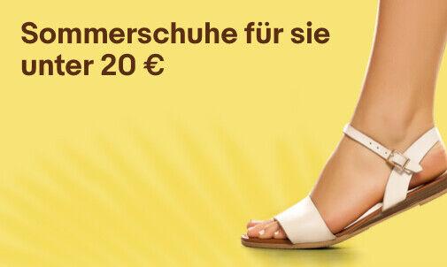 Sommerschuhe für sie unter 20 €