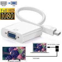 White Mini DisplayPort to DVI Adapter 1080p Monitor Cable F MacBook Pro Air iMac