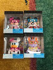 Disney Lot of 4 Vinylmation Nerds Rock Stitch Mickey Minnie Daisey