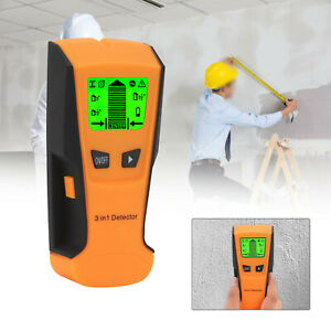 LCD Wall Stud Center Finder Metal Live Wire Detector Wood Copper Scanner 3 in 1