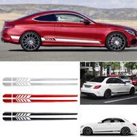 2x 225CM Auto Aufkleber Rennstreifen Streifen Zierstreifen Für Universal Car DIY
