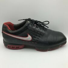 Nike Mens Tiger Woods Sp-8 Tw Tour Golf Shoes Black Red 314830-061 Lace Up 10.5