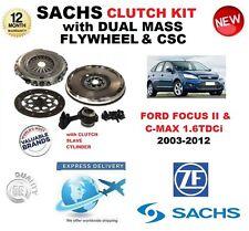 FOR FORD FOCUS C MAX DA 1.6 TDCi SACHS CLUTCH KIT 2003-2012 w FLYWHEEL CSC BOLTS