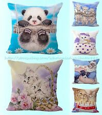 wholesale 6pcs cats dogs panda cushion cover high end decorative pillows