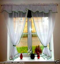READY MADE CURTAIN AMAZING VOILE VARIOUS SIZES AND COLOURS PIPING KITCHEN ROOM