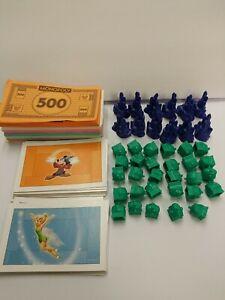 2009 Monopoly Disney Ed. Replacement Parts 12 Castles 29 Cottages 32 Cards Money