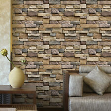 10Mx45cm 3D Stone Brick Wallpaper Background Modern Mural Living Room Self-adhes