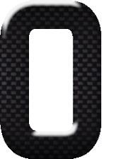 3D Gel Domed Digit Domed DIY Registration Reg Number Plate CARBON Letter Digit 0
