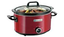 Crock-Pot 3.5L Slow Cooker - Red An Economical Way To Cook, Slow Cooking NEW_UK