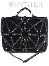 Restyle Bondage O-Ring Harness Satchel Punk Gothic Black Messenger Bag Briefcase