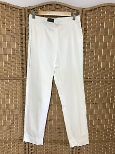 OSKA Ladies White Cotton Ropa Trousers Size 2