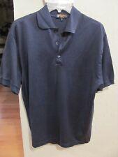 Mens Size Large Catalina Bay Dark Blue Short Sleeve Polo Shirt