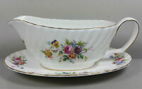 MINTON MARLOW S309 GRAVY / SAUCE BOAT AND STAND (PERFECT)