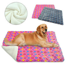 Dog Pet Cat Puppy Bed Soft Fleece Cozy Warm Mat Blanket Kennel House Portable
