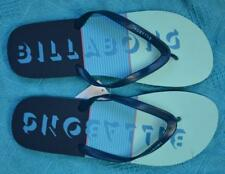 New Billabong Logo Surf Thongs Mens Size 14 BLUE Tribong Style Quality Surfwear
