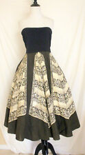 Rare 1950s Hand Painted Mexican Sequinned Vintage 50s Full Circle Skirt sz L