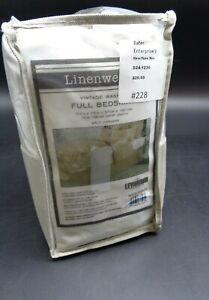 """Linenweave Vintage Washed Full BedSkirt 15"""" Drop 54"""" x 75"""" (D24-1230)"""
