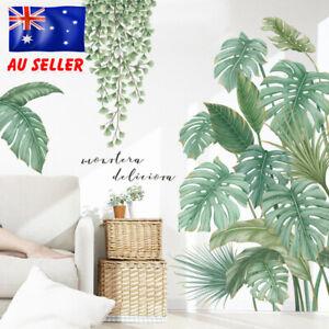 Green Tropical Leaves Plant Foliage Vinyl Nursery Decor Art Mural Wall Stickers