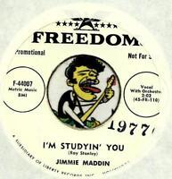 JIMMIE MADDIN I'M STUDYIN YOU ROCKABILLY BOPPER PROMO 45 RPM RECORD