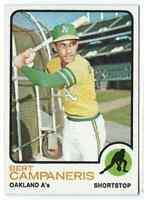 1973 Topps Bert Campaneris Oakland Athletics #295