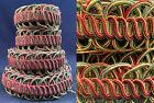 VTG Edwardian Unused Pastel Silk Cord Woven Braided Passementerie Trim 12 Yards