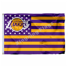 Los Angeles Lakers Nation Flag 3X5 FT NBA Banner Polyester FAST SHIPPING!!!