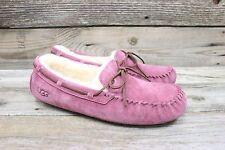 UGG Australia Womens Dakota Bouquet Pink Sheepskin Mocassins Slippers US 12 NEW!