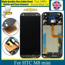 For HTC One Mini 2 M8 mini LCD Replacement Touch Screen Digitizer + Frame Black