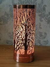 Aroma Lamp Wax Melt Burner Rose Gold Tree Design Touch Sensitive Christmas