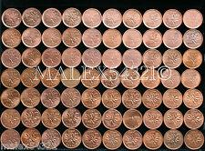 1953 TO 2012 CANADIAN 1 CENT RED/BR AU (72 COINS)     FREE $HIPPING IN CANADA!