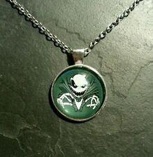 Nightmare Before Christmas Jack Skellington Glass Necklace Pendant Charm Gift