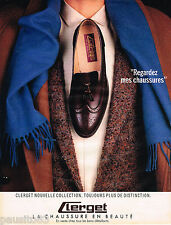 PUBLICITE ADVERTISING 065  1985  CLERGET   chaussures homme