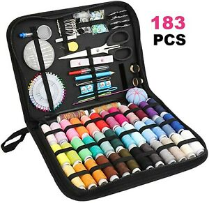 Home Deluxe Sewing Kit with 183 Premium Sewing Accessories - Basic & Professiona