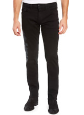 True Religion Men's Embroidered Rocco Black Skinny Fit Magnetic Field Jeans - 38