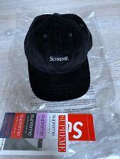 Supreme Corduroy 6-Panel Cap in Black