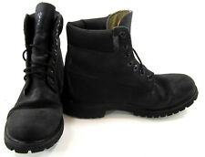 Timberland Boots 6 Inch Premium Textured Leather Black Shoes Size 10