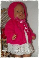 Honeydropdesigns  * PAPER KNITTING PATTERN #3 * For Baby Born/17 Inch Dolls
