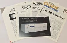Ayre Acoustics D-1 CD/DVD 📀 Player Original Product Info Card, Manual & More