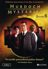 Murdoch Mysteries: Season 6 - 4 DISC SET (2013, DVD New) WS