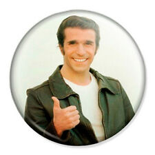 "The Fonz 25mm 1"" Pin Badge Button Happy Days Fonzie Retro Kitsch"