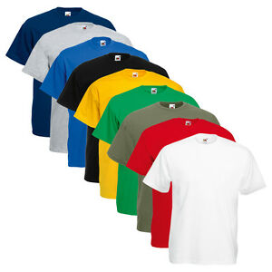 Set 5 Pezzi T-Shirt FRUIT OF THE LOOM 100 % Cotone Tg & Colori ASSORTITI DD