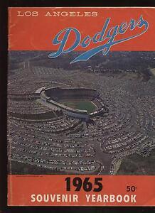 1965 Los Angeles Dodgers Yearbook VG+