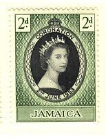 JAMAICA 1953 CORONATION BLOCK OF 4 MNH