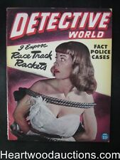 Detective World Feb 1946  Bondage Cover - High Grade