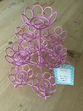 NEXT 3 tier cupcake stand pink coated metal BNWT