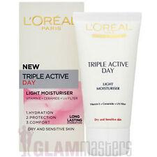 L 'Oreal Triple Active Día Luz moistursier-Seco Y Piel Sensible 50ml