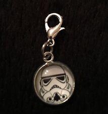 Star Wars Stormtrooper Bracelet Charm Clip Zip Bag Clasp Pet Collar Trooper *UK