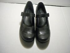 Ecco Women's Black Leather Mary Jane Comfort Shoes Size 9/9.5 M US Eu 40
