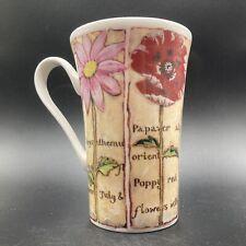 """More details for vintage 2001 roy kirkham """"natural talent"""" fine bone china floral mug england"""